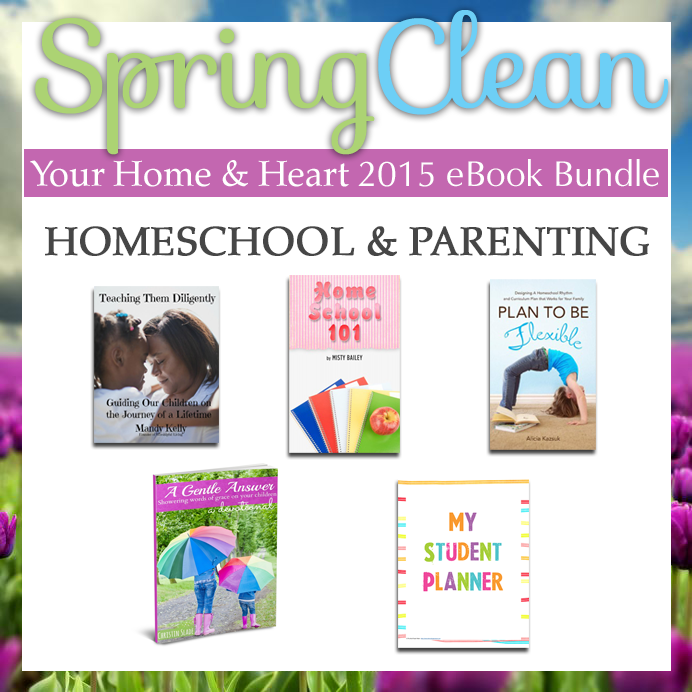 Spring clean your home and heart - homeschool and parenting