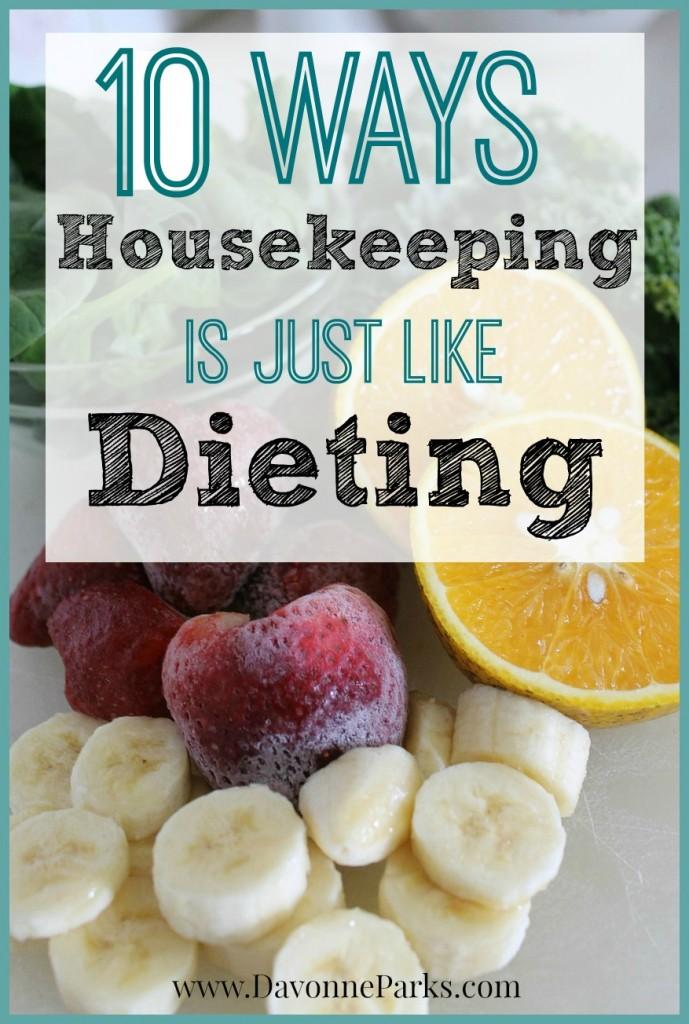 10 ways housekeeping is like dieting