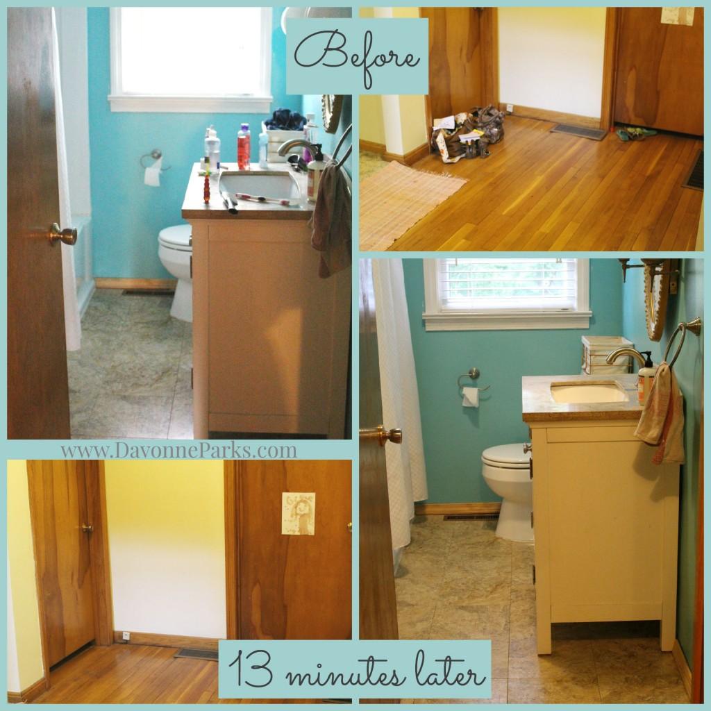 Bathroom Hallway Before After