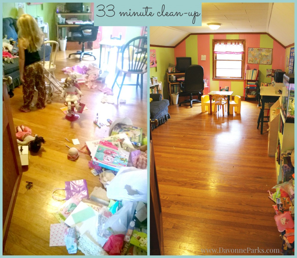 playroom cleanup